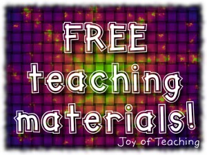 Follow Joy of Teaching's store on Teachers Pay Teachers and get free downloads!