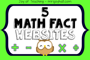 Just the Math Facts Math Fact Websites Button