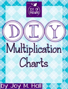 Kids DIY Multiplication Charts