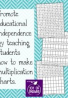 Kids' DIY Multiplication Charts