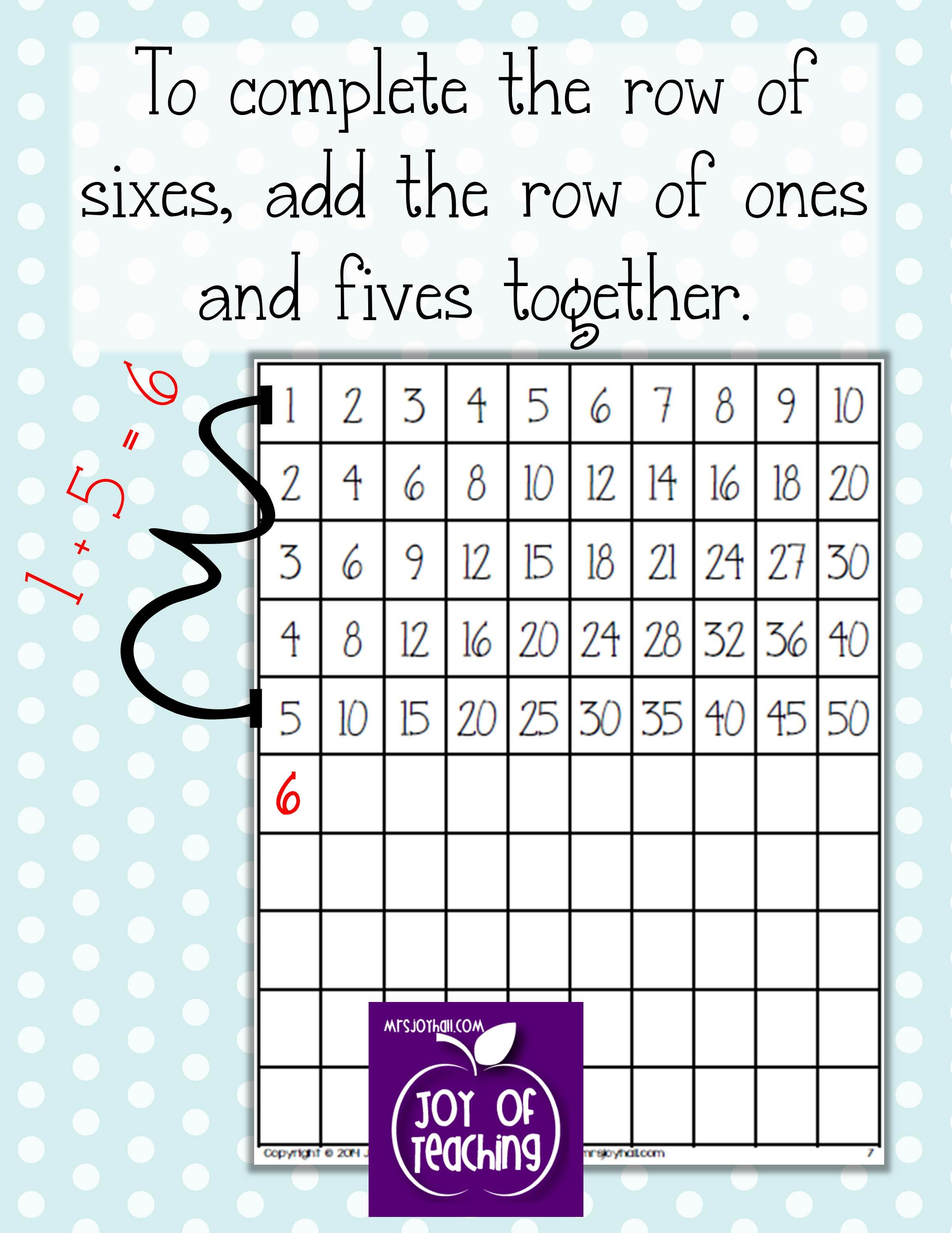 Kids\' DIY Multiplication Charts - Mrs. Joy Hall