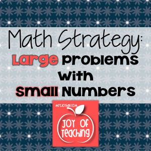 Large Problems with Small Numbers Save As